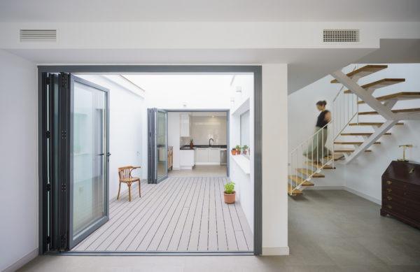 Proyecto vivienda unifamiliar adosada entre medianeras en El Palo